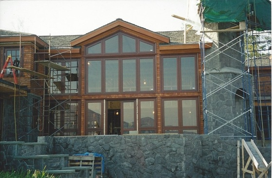 natural stone massonry home project iunder construction.